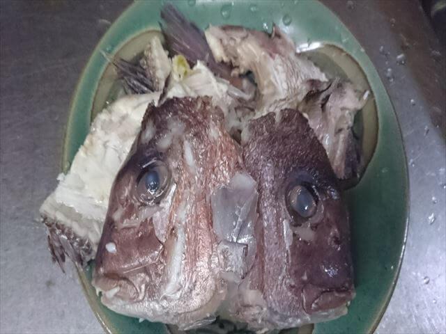 鯛,あら,味噌汁