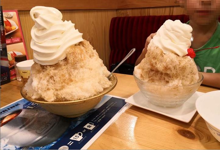 シロノワール氷,コメダ珈琲,かき氷
